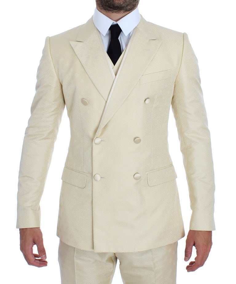 White Double Breasted 3 Piece Suit
