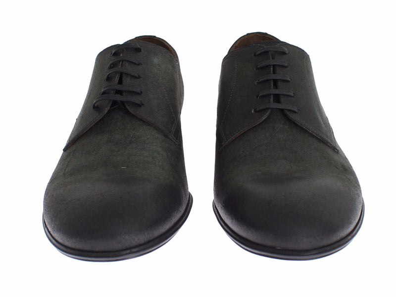 Mens Green Leather Dress Formal Derby Shoes