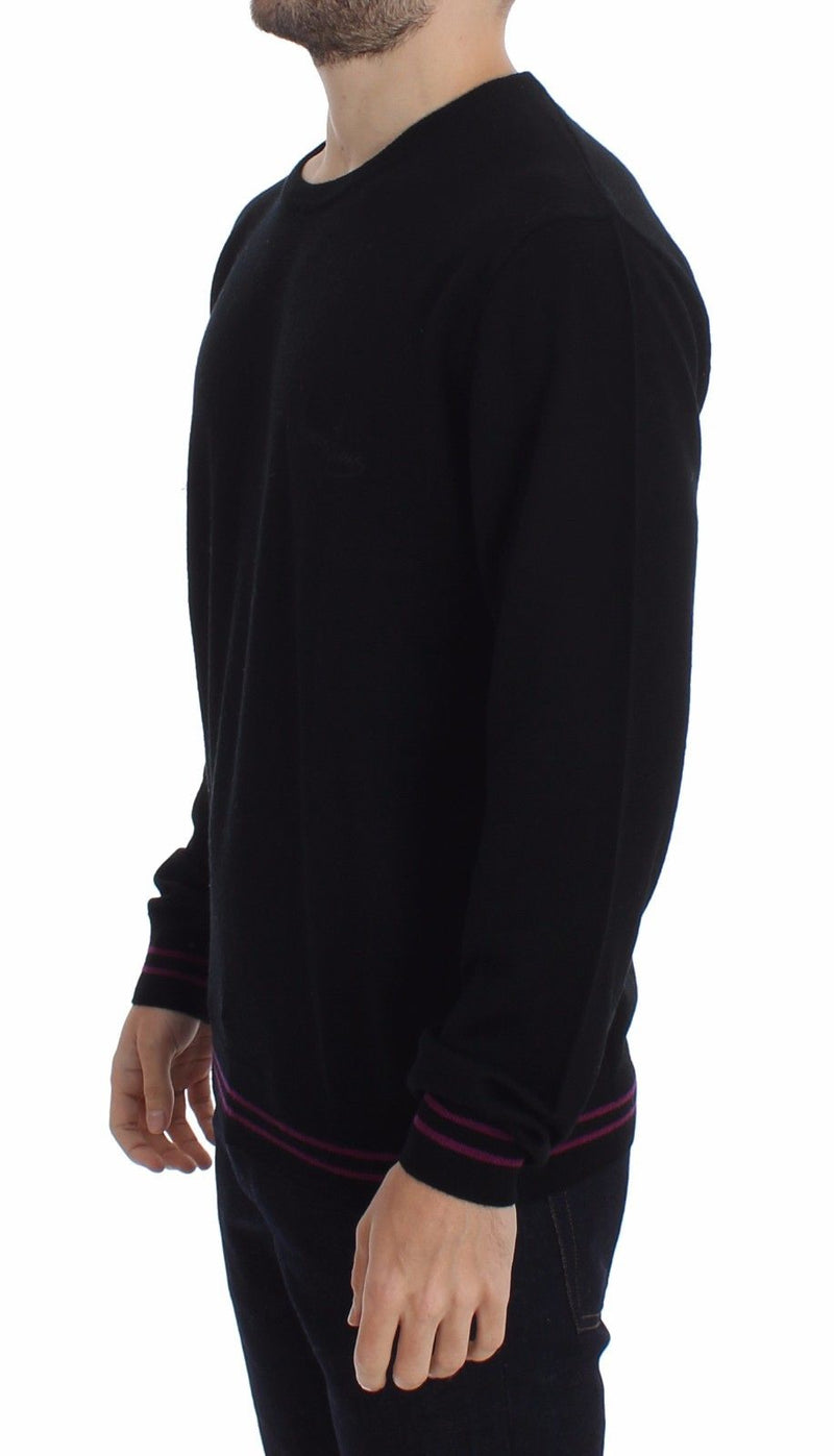 Black Wool Crew-neck Sweater