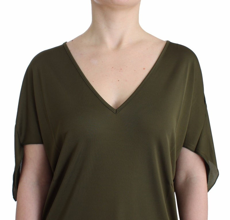 Green shortsleeved blouse top