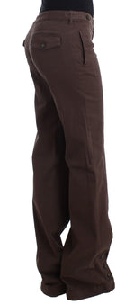 Brown wide leg cargo pants