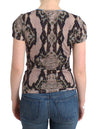 Brown snake printed top