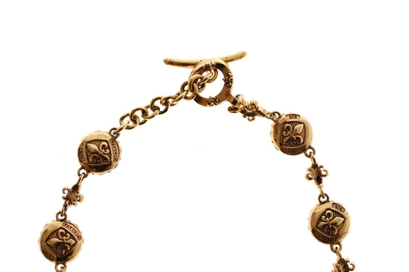 Red CZ 18K Gold 925 Silver Bracelet