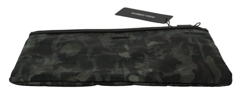 Black Green Camouflage Clutch Hand Pouch
