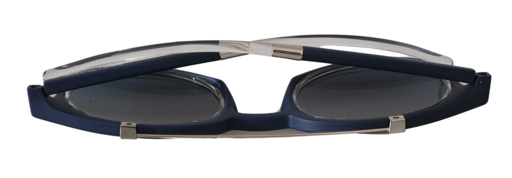 Blue Silver Oval DG6116 Logo Mens Sunglasses