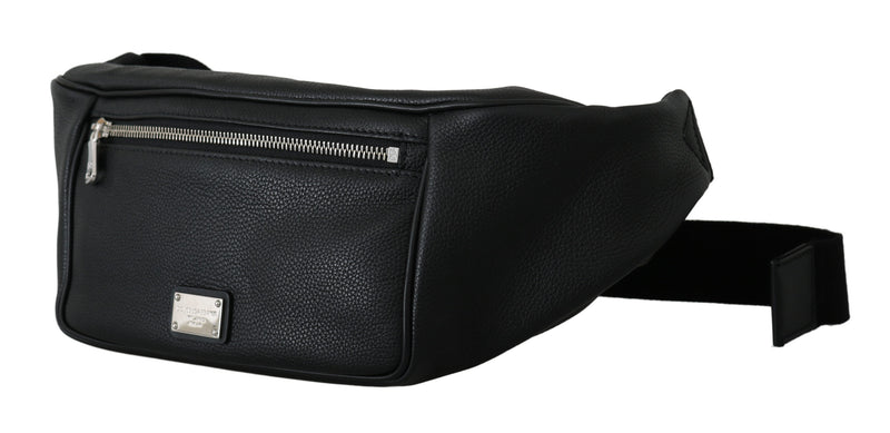 Black DG Fanny Men Adjustable Waist Pouch