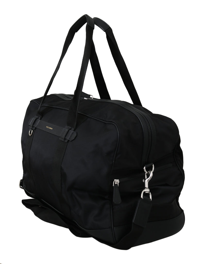 Black Duffle Travel Shoulder Sling Strap Nylon Bag