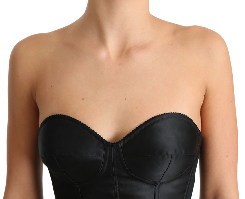 Black Corset Stretch Bustier Tube Top Corset