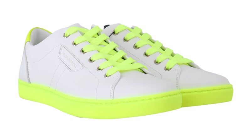 White Leather Yellow dglovesyou Sneakers