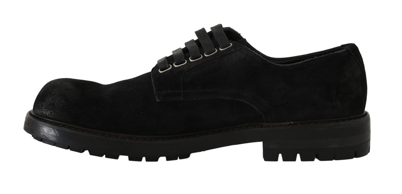 Black Leather Derby Formal Shoes