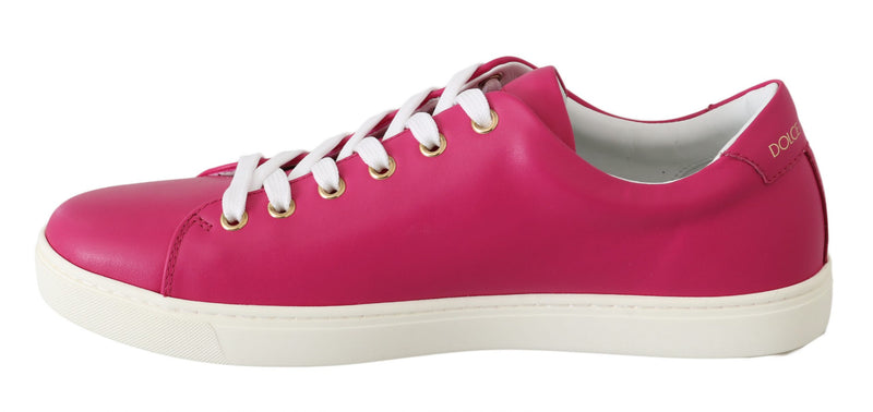 Pink Leather Gold Red Heart Shoes Sneakers