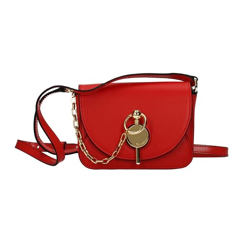 Red Leather Corssbody Bag