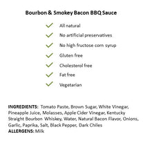 Load image into Gallery viewer, Bourbon & Smokey Bacon BBQ Sauce: 3 Pack