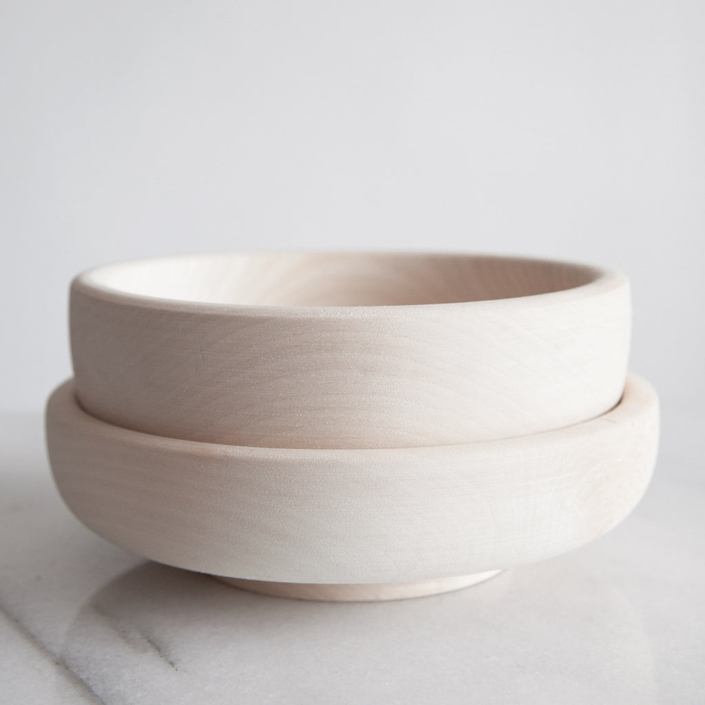 Linden wood bowl set