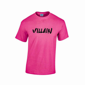 VILLAIN T-SHIRT (PINK/BLACK)