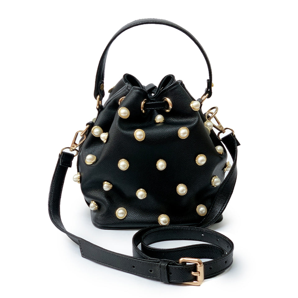 Loly Bucket Polkadotts  Black