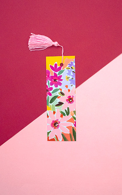 Floral Yellow Bookmark