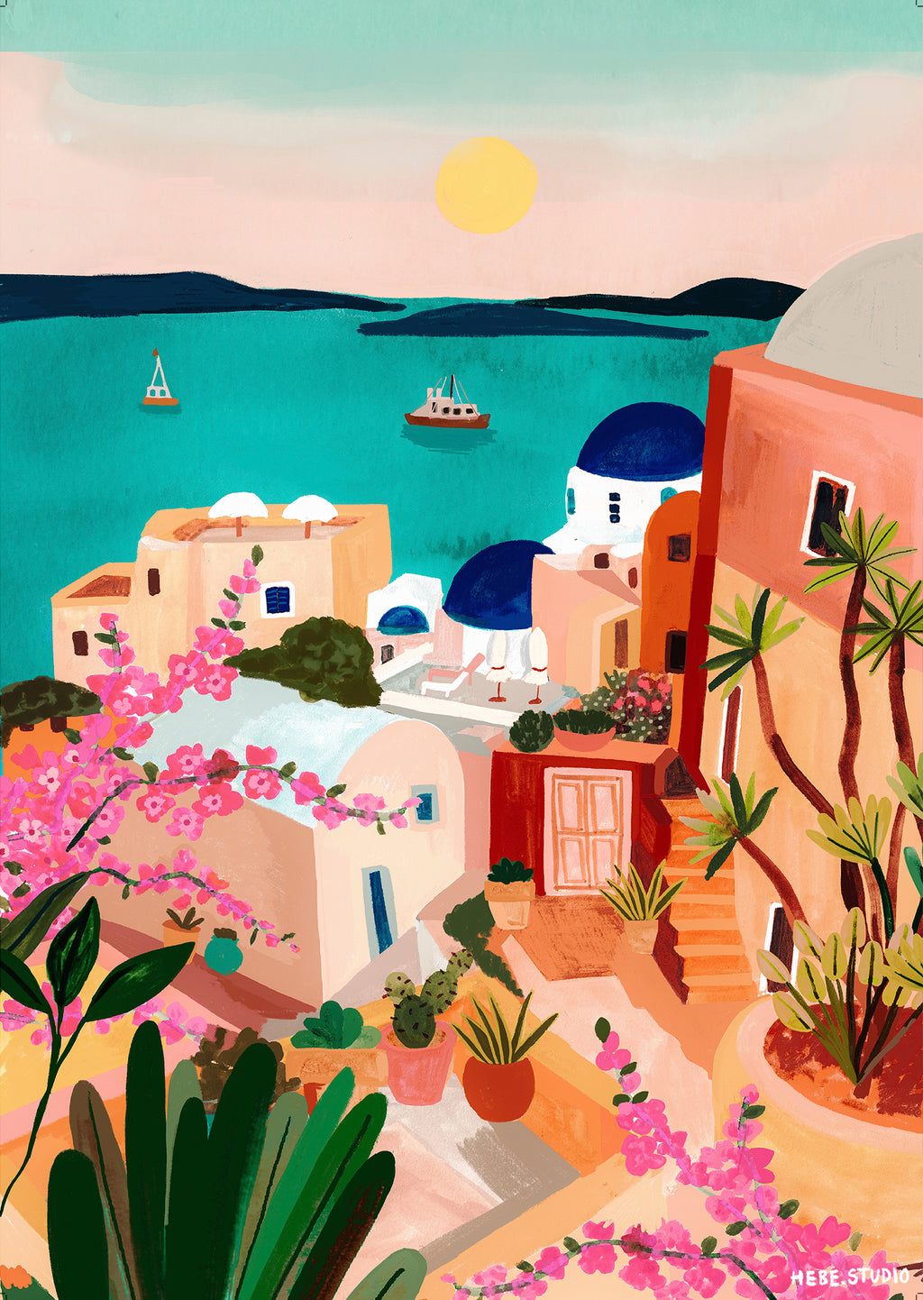 Paint By Numbers kit - Santorini Sunrise