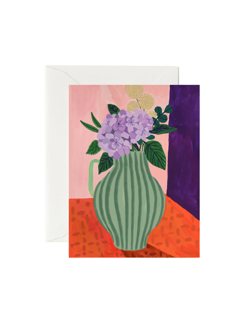 Mums vase Mothers day card