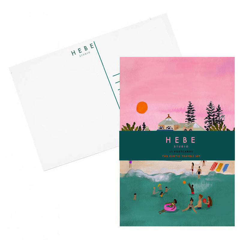 The Exotic Travels Postcard set