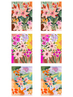 The Floral Postcard set