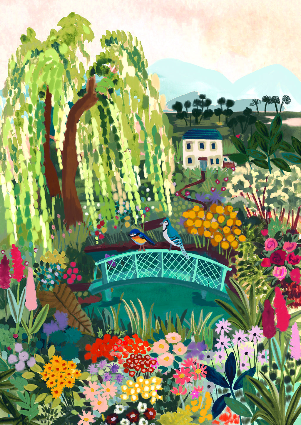 Paint By Numbers kit - Garden Floral