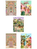 The Indian Travels Postcard set