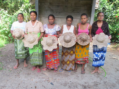 CPALI women's group with wild silk hats