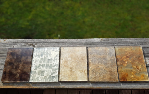 wild silk encased in architectural glass by Glass Inspirations samples
