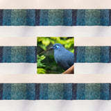 blue coua inspired textile