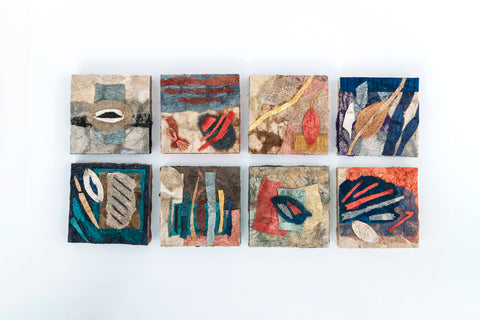 wild silk collage squares