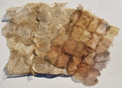 undyed ceranchia dense, ceranchia open, and suraka silk papers.