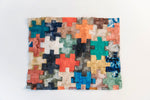 "Load image into Gallery viewer, Handmade Non-Woven Ceranchia Cocoon Silk Puzzle Mosaic Panels Madagascar (16.5""x21"")"