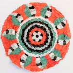 "Load image into Gallery viewer, Handmade Non-Woven Bombyx Cocoon Circles with Designs Madagascar (16"" diameter)"