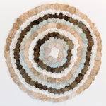 "Load image into Gallery viewer, Handmade Non-Woven Bombyx Cocoon Circles Madagascar (16"" diameter)"