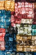 "Load image into Gallery viewer, Mosaic Panel of Non-Woven Wild Gathered Cocoon Silk Madagascar Large (24"" x 64"") -  MORE ON THE WAY!"