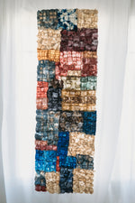 "Load image into Gallery viewer, Mosaic Panel of Non-Woven Wild Gathered Cocoon Silk Madagascar Large (24"" x 64"")"