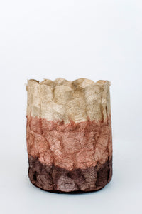 Striped Non-Woven Cocoon Silk Basket  Rose Gold  - SMALL AND MEDIUM SIZES ARE HERE!!