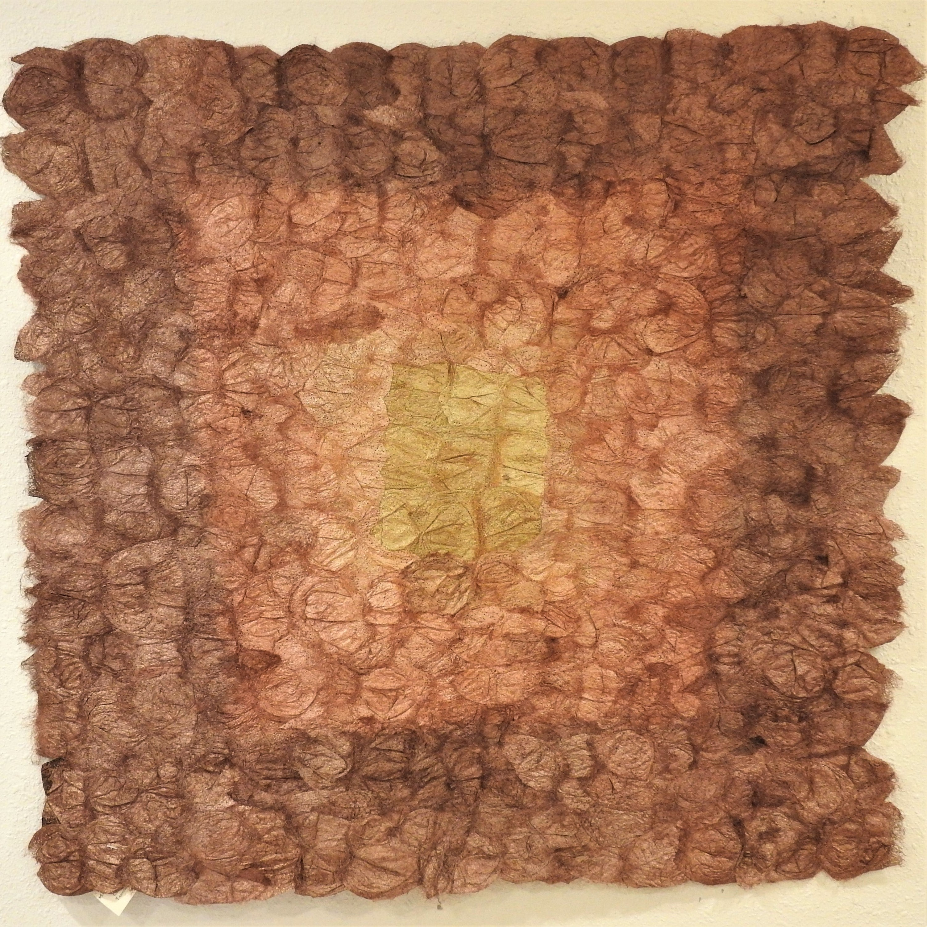 "Hand-Dyed Square Panel Non-Woven Wild-Gathered Cocoon Silk Madagascar (24"" x 24"")"