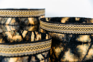 Black & Gold Cocoon Silk Basket