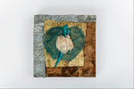 "Load image into Gallery viewer, Square Collage Wall Art of Wild Cocoon Silk Madagascar (6"" x 6"")"