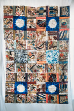"Load image into Gallery viewer, Handmade Intricately Detailed Non-Woven Cocoon Silk Mosaic Panel Madagascar (40""x60"")"
