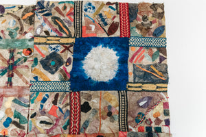"Handmade Intricately Detailed Non-Woven Cocoon Silk Mosaic Panel Madagascar (40""x60"")"