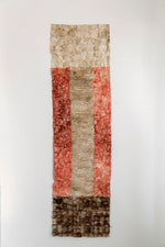"Load image into Gallery viewer, Non-Woven Wild Cocoon Silk Panel Rose and Natural Handmade in Madagascar (14""x72"")"