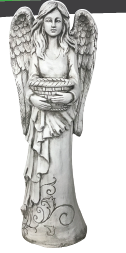 Angel With Water Bowl Statue