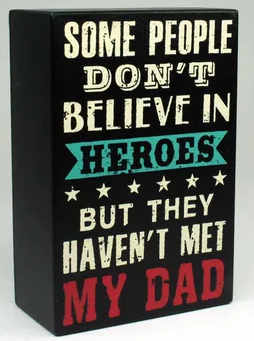 Super Dad Block Believe in Heroes 10x15cm