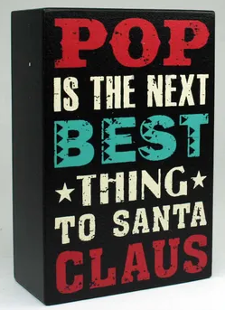 Super Dad Block Santa Claus 10x15cm