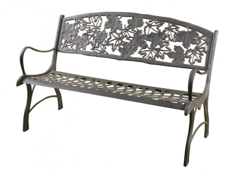 Maple Leaf Cast Iron Bench