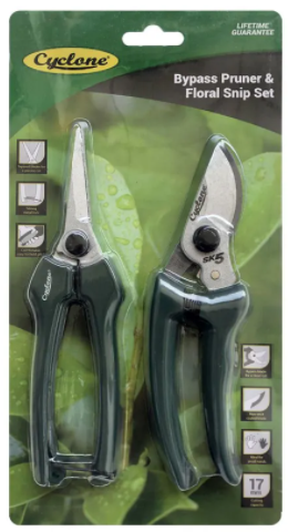 Bypass Pruner and Floral Snip Set