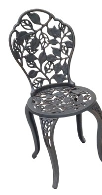 Leaves Cast Iron Garden Chair Set 2